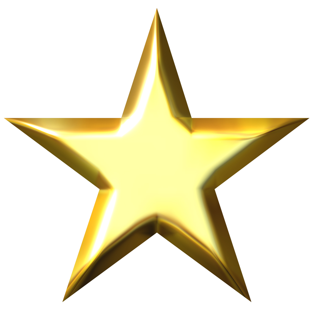 gold star clipart no background