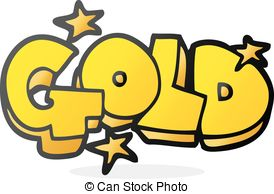 . hdclipartall.com cartoon word gold - freehand drawn cartoon word gold