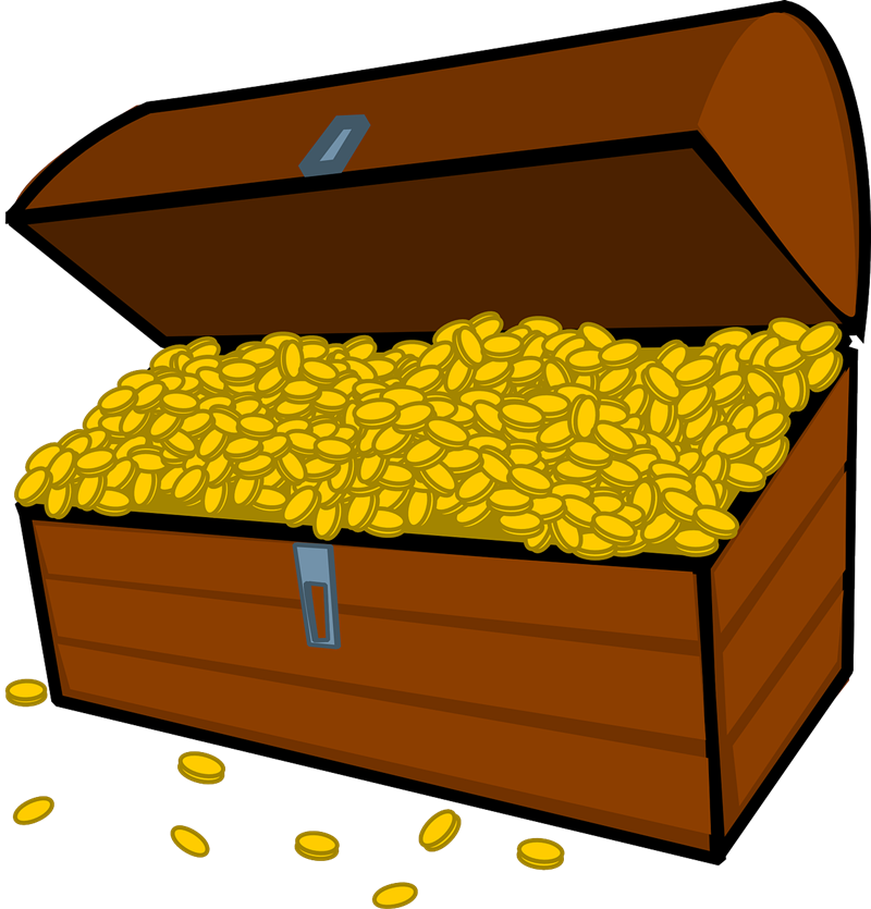 Gold coins clipart image