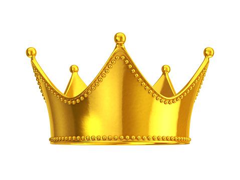 Gold crown vector art .