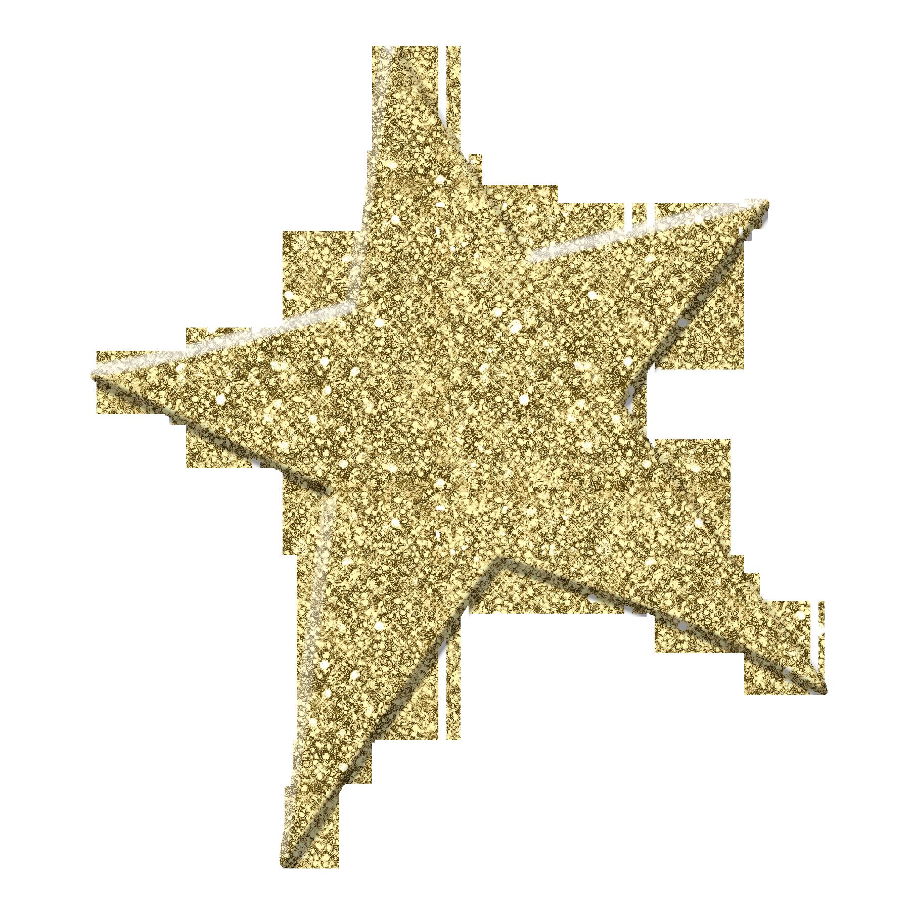 Gold Glitter Star Clip Art