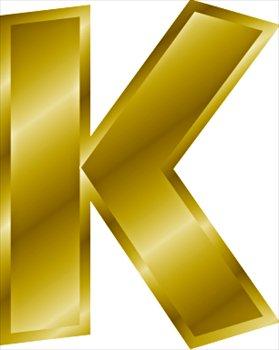 gold-letter-K ...