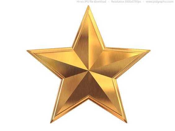 gold star clip art | Gold star