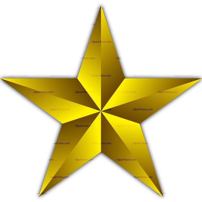 Gold Star Clip Art