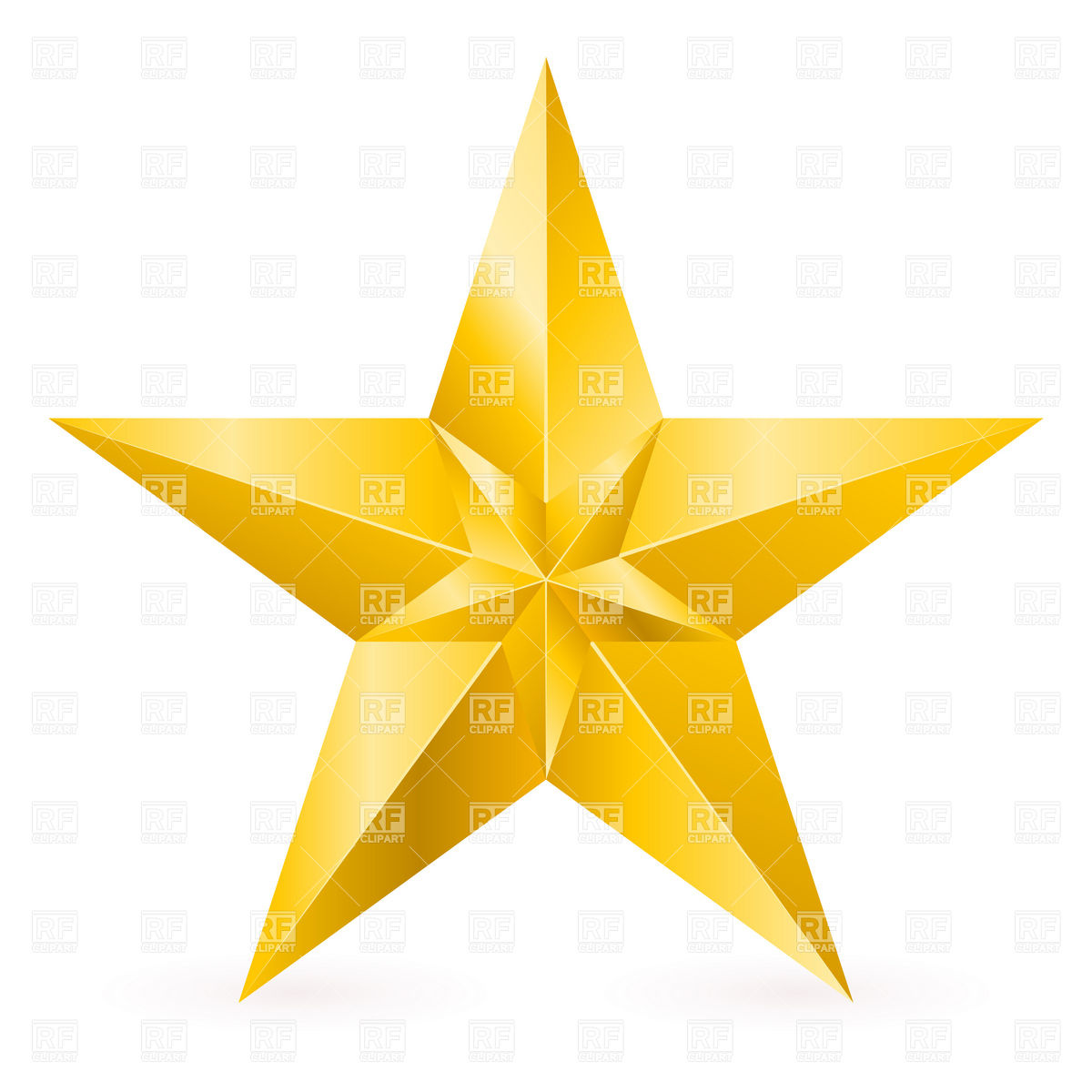Gold star clipart images - .