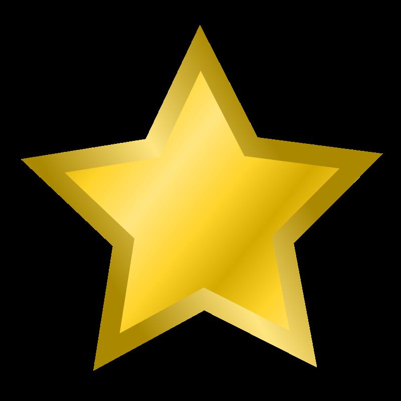 gold star clipart. reward clipart
