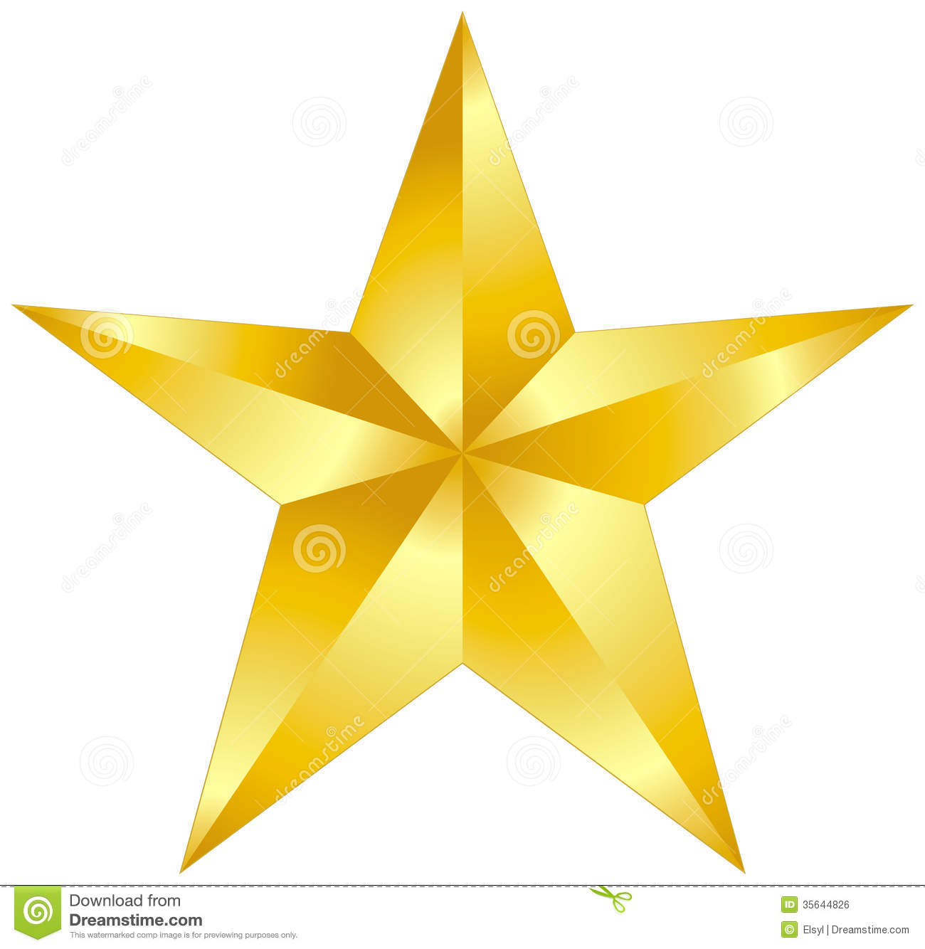 Gold Star Royalty Free Stock .