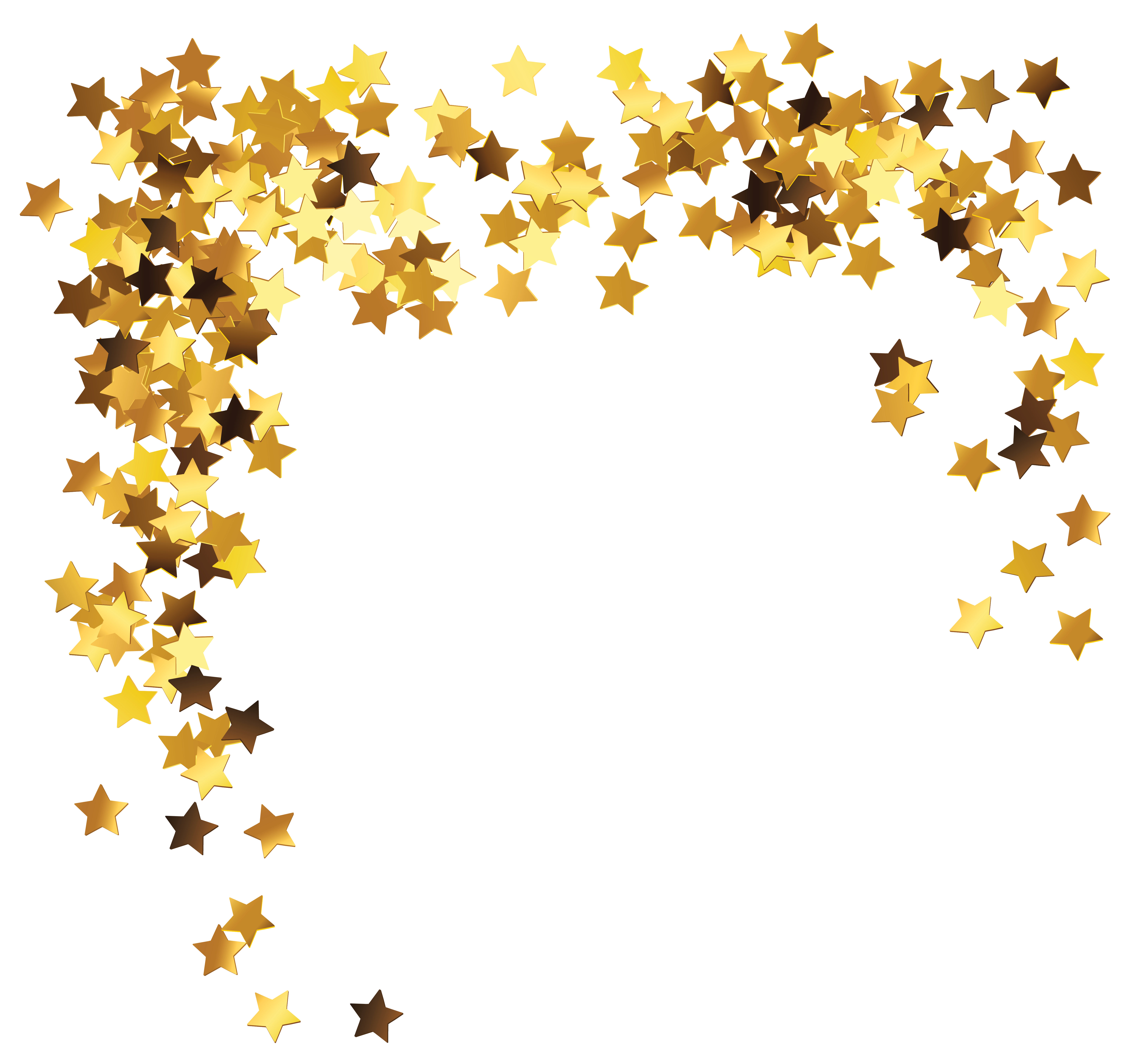 Gold stars decoration clipart picture