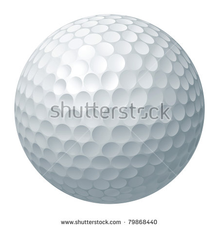 An illustration of a traditional white golf ball