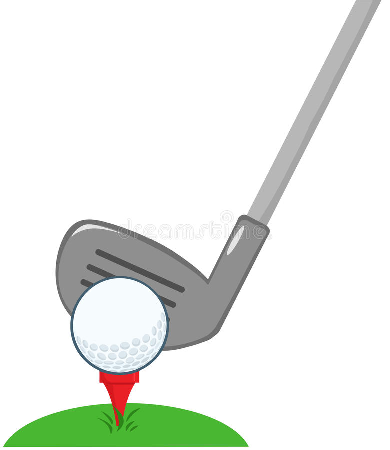 Golf Ball Clipart 2 Golf Club And Ball Ready stock vector. Illustration of golfer -  31874457