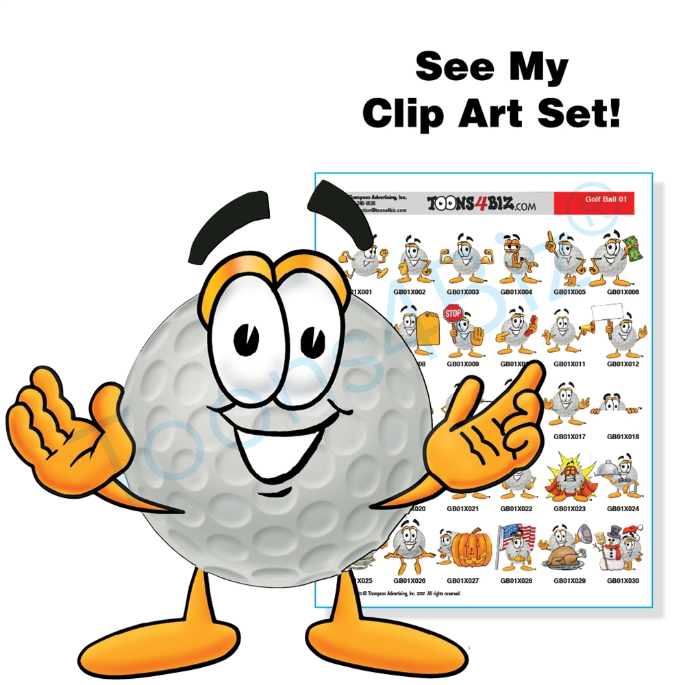 Golf Ball Clip Art Set