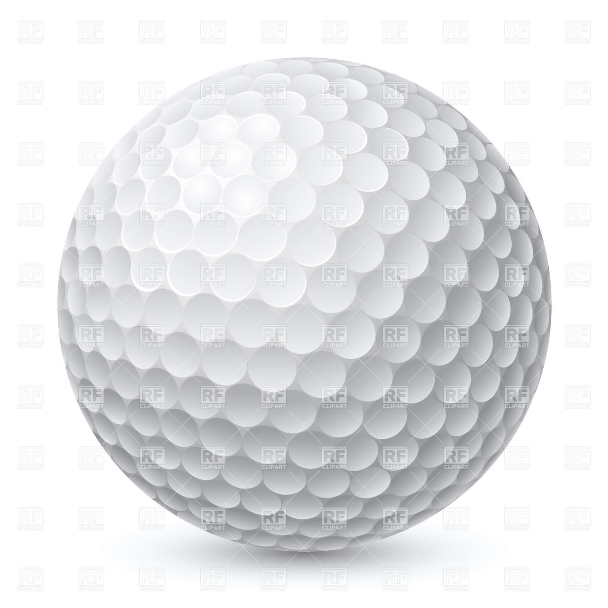 Golf Ball, Royalty Free Vector Clip Art