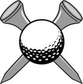 Golf Club and Ball Clip Art | Golf - stock illustration clip art. Buy  royalty
