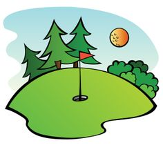 A golf course, created for the Sports 2010 Clip Art Package Release.