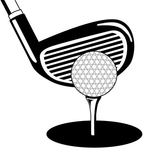 Area clipart: Golf clip art black and white