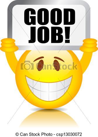Good Job Smiley Vector Good Job Smiley Csp13030072 Search Clipart