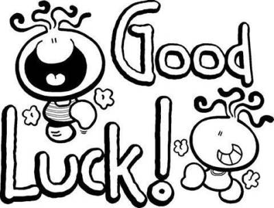 Good luck clipart black and white clipartall 4