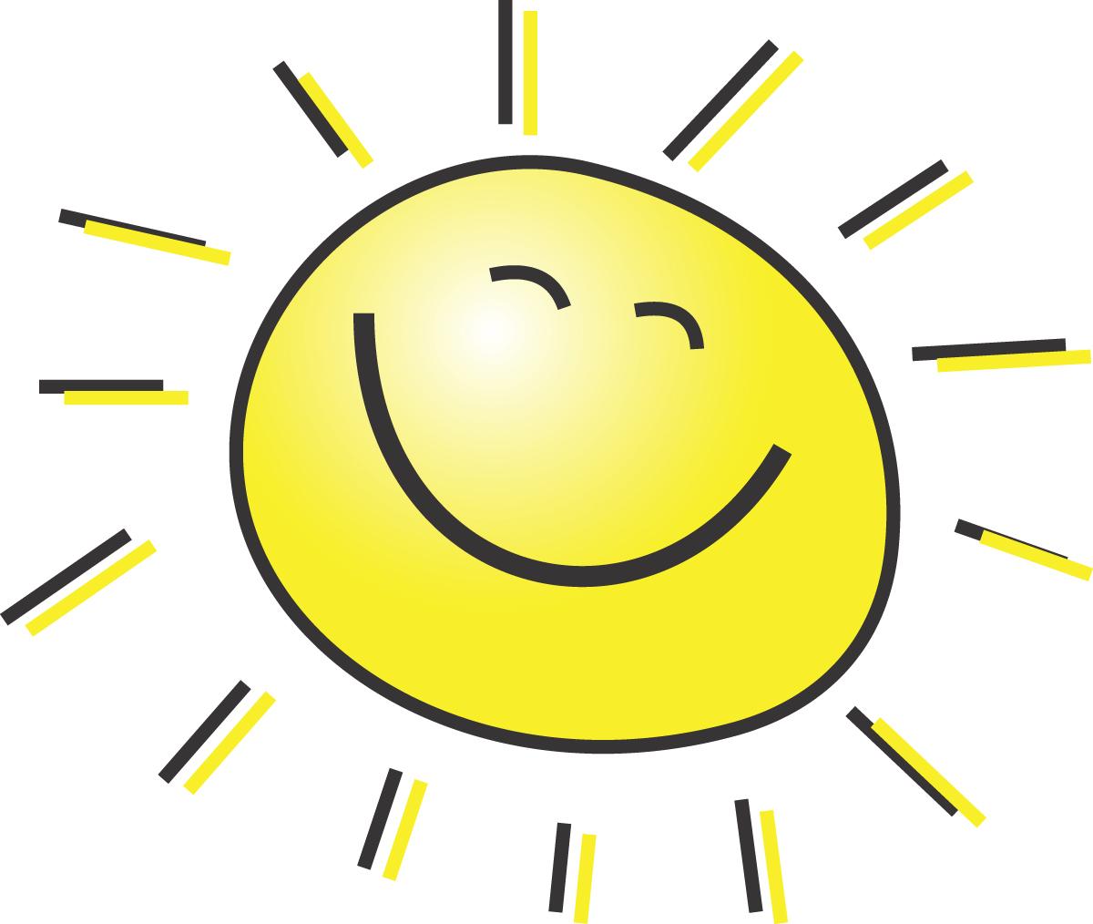 Good morning morning sun cartoon clipart