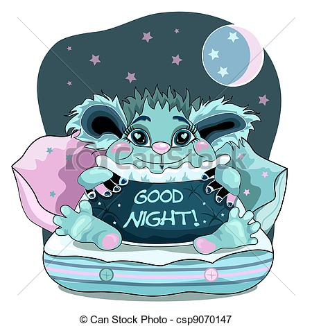 ... Good night - Cute good night background with blue friendly.