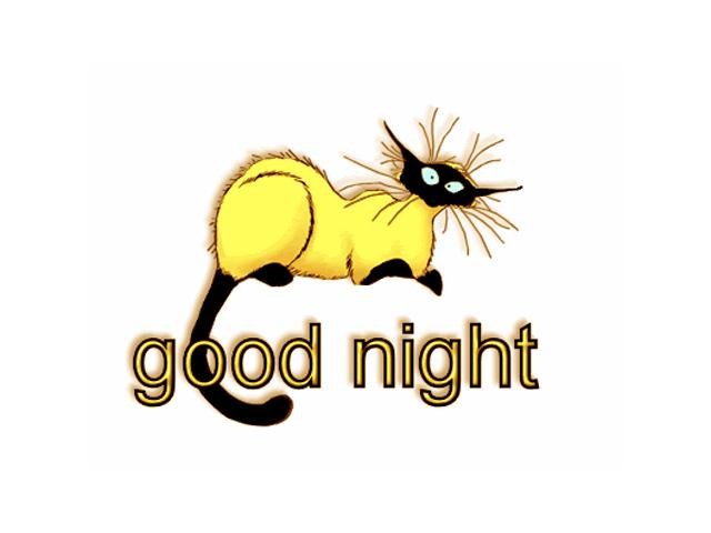 Good Night Yellow Cat Clipart Rocks Wallpaper Hd