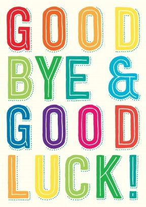 Goodbye And Good Luck Clipart Goodbye Good Luck Clip Art