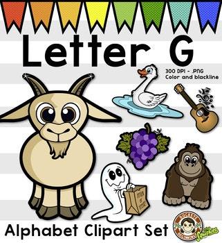 Alphabet Clip Art: Letter G Phonics Clipart Set - Clip Art