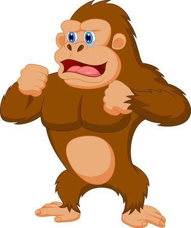 Gorilla cartoon Illustration