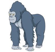 gorilla waving cartoon. Size: 45 Kb