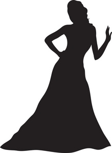 Gown Clipart Image Woman .