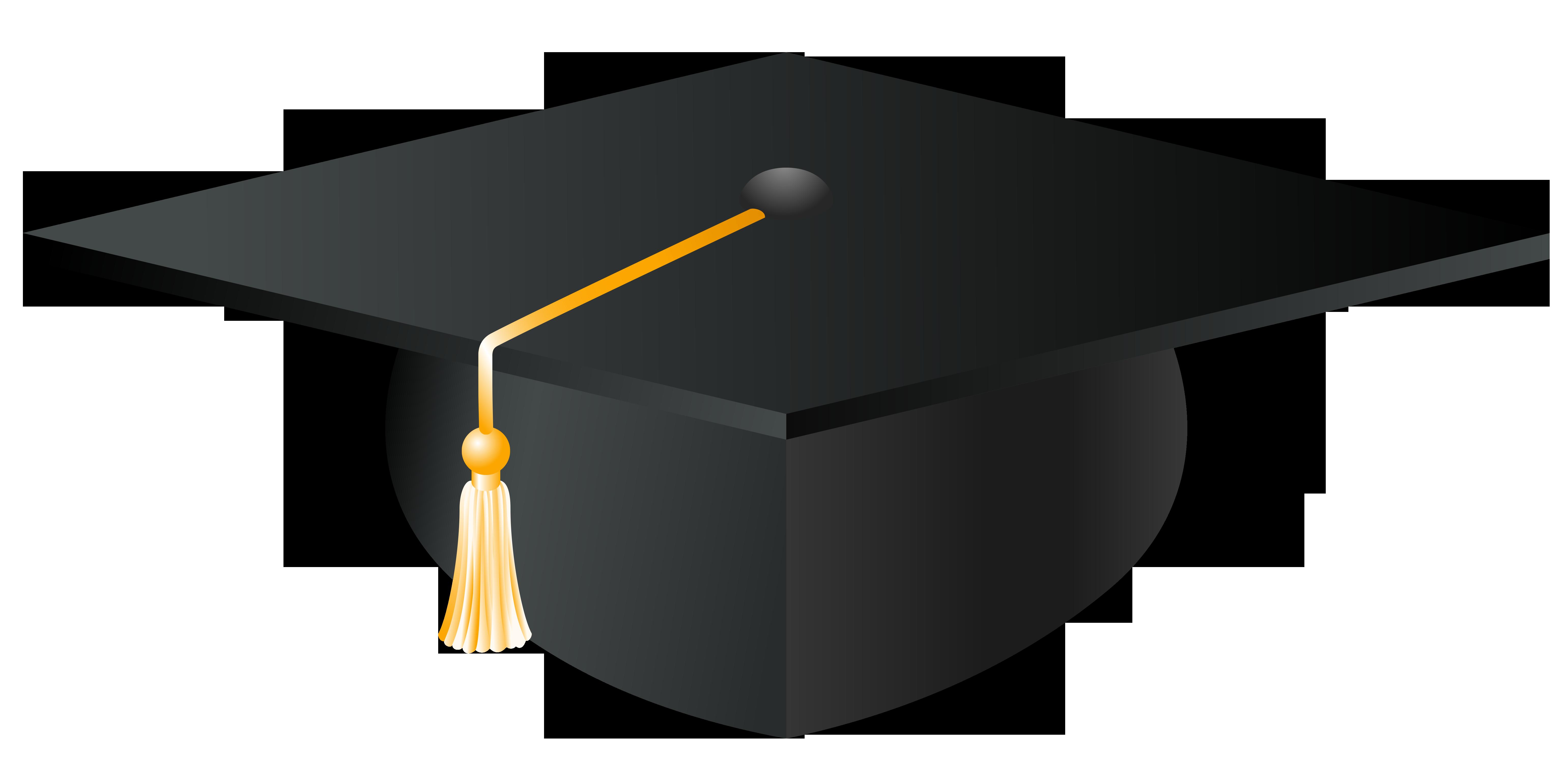 Graduation Cap PNG Vector Clipart Image .