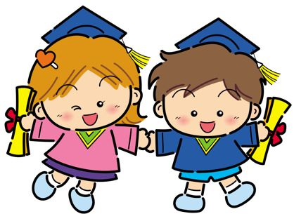 418x305 Child clipart graduation