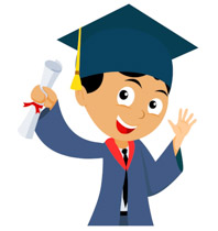 male student holding degree graduation clipart. Size: 74 Kb