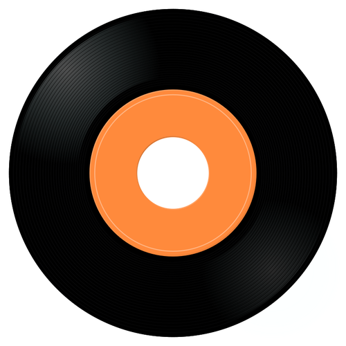 Gramophone record vector image