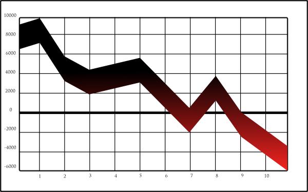 Graph Crash Clip Art Vector .