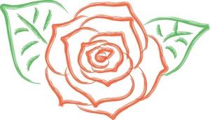 Graphic rose clipart