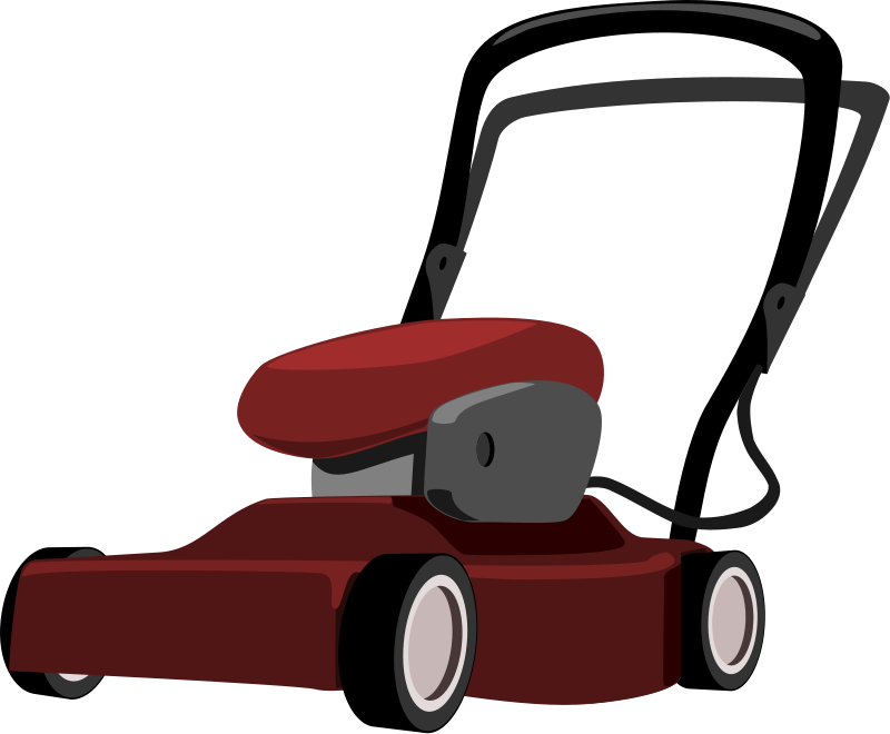 grass clipart black and white. lawn-mower.png