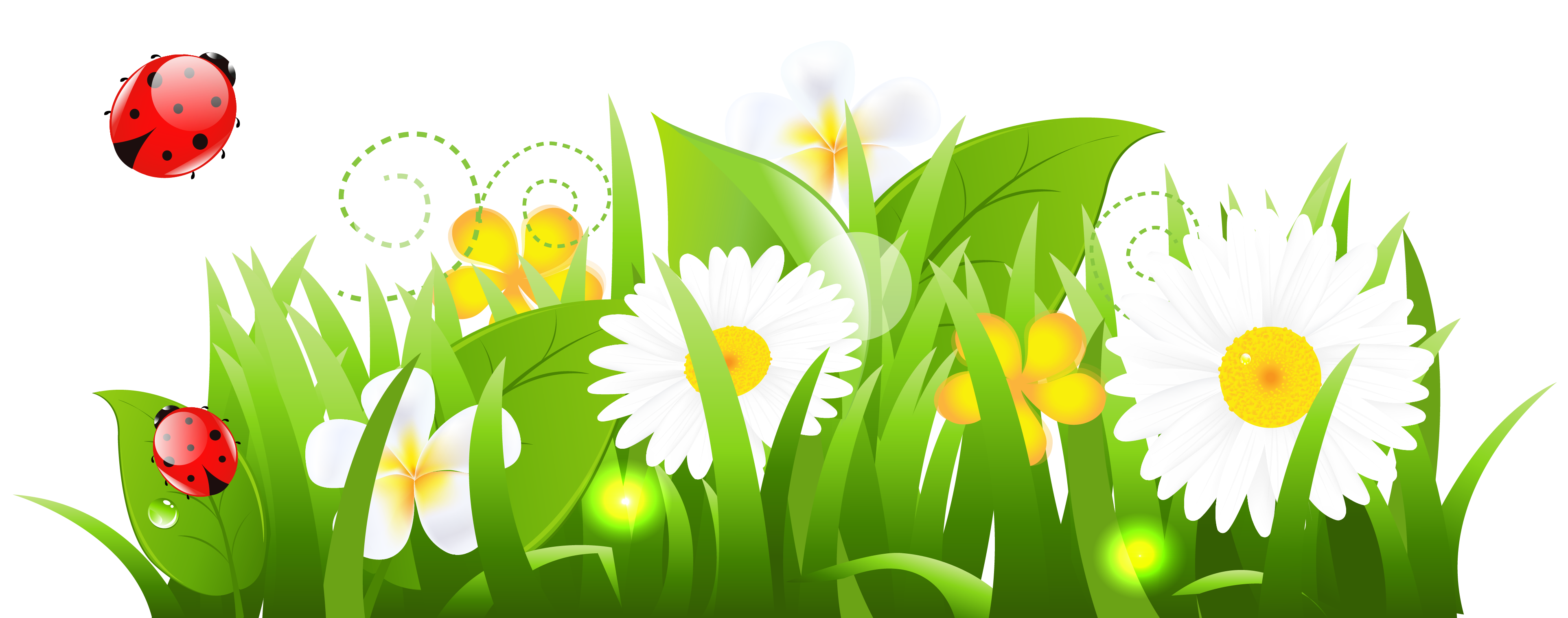Grass and flowers clipart hdclipartall