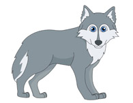 gray wolf clipart. Size: 37 Kb
