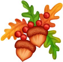 Great Decorations - Thanksgiving Holidays. GoF_Designs_Thanksgiven_Elements. autumn clipart ...