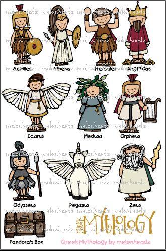 Greek Mythology Bundle By Melonheadzdoodles On Etsy 7 00
