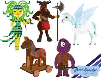 Greek Mythology Characters Clip Art   Greek mythology, Graphics and Horses