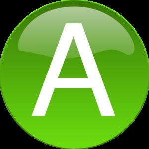 Green A Clip Art