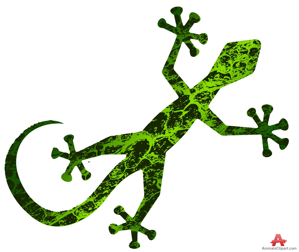 Green abstract lizard clipart free design download