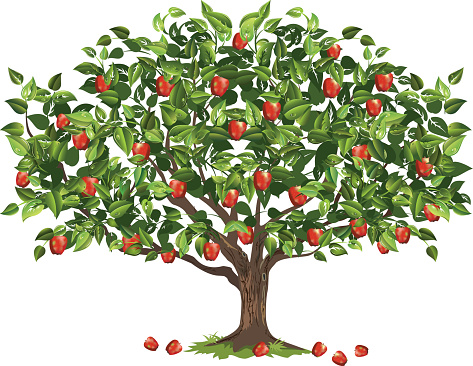 Green Apple Tree Clipart