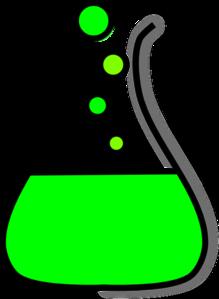 Green Beaker Clipart