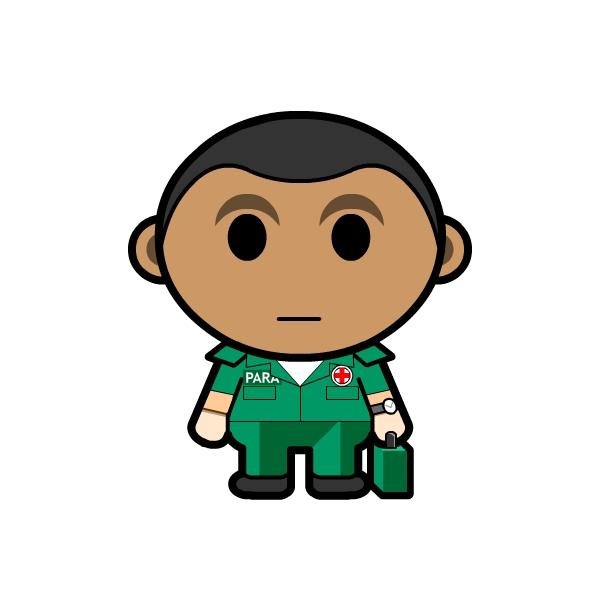 Green Boys Paramedic Clipart
