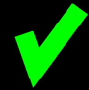Green Check clip art - vector clip art online, royalty free .