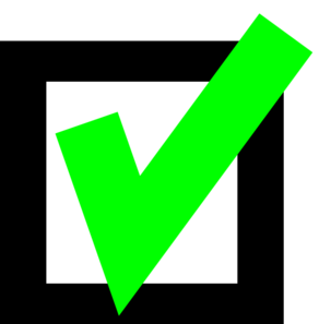 ... Green Check clip art - vector clip art online, royalty free .