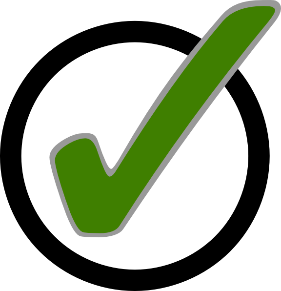Green Check Mark In Circle Clip Art At Clker Com Vector Clip Art