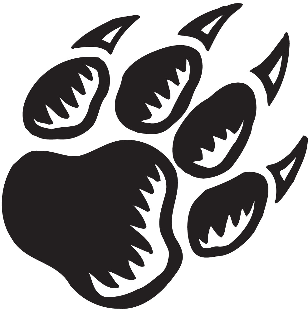 Green Cougar Paw Hissing Over A Clipart - Free Clip Art Images